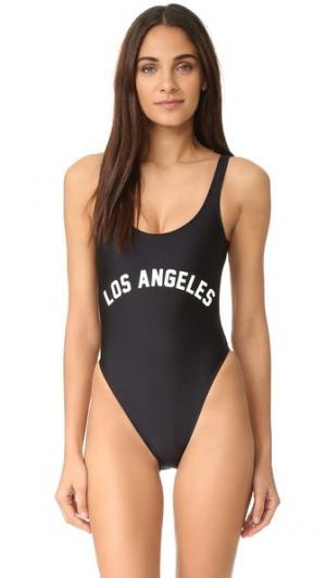 Сплошной купальник Los Angeles Private Party. Цвет: голубой