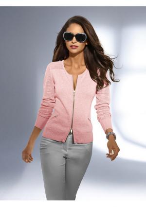 Кардиган PATRIZIA DINI. Цвет: мятный, розовый, серый меланжевый, телесный, черный