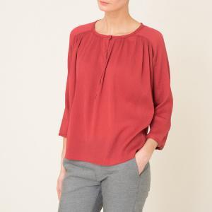Блузка с длинными рукавами POMANDERE. Цвет: красный