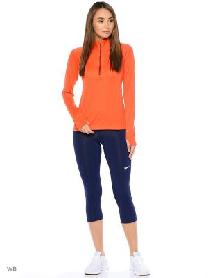 Лонгслив W NK TOP HZ Nike. Цвет: оранжевый