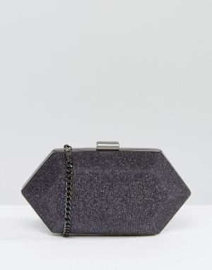 Miss KG Структурированный клатч с камнями. Цвет: серый