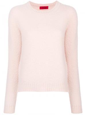 Джемпер с круглым вырезом The Gigi. Цвет: розовый и фиолетовый