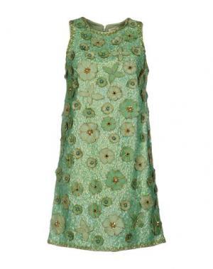 Короткое платье MANOUSH. Цвет: светло-зеленый