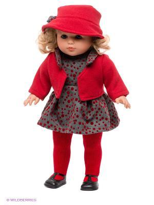 Кукла Лаура Llorens. Цвет: темно-красный, серый