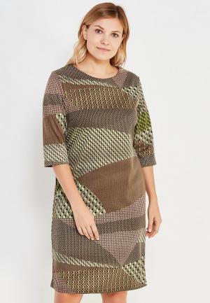 Платье Sparada. Цвет: коричневый
