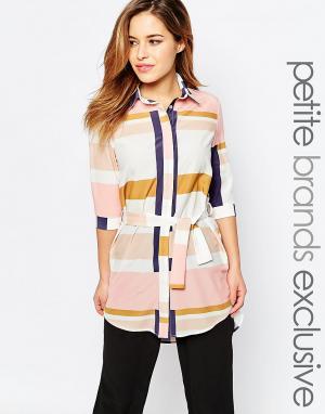 Alter Petite Oversize-рубашка с графическим принтом. Цвет: мульти