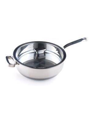 Глубокая сковорода 28см с доп.ручкой (4,5л) Positano Zanussi. Цвет: серебристый