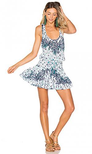 Мини платье kila Poupette St Barth. Цвет: синий