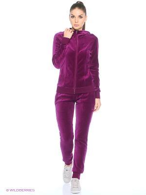 Костюм спортивный  STYLE BEST Velour Suit W cl Puma. Цвет: малиновый, фиолетовый