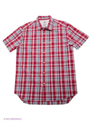 Рубашка Quiksilver. Цвет: красный, голубой