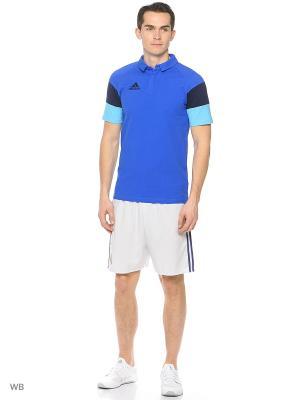 Футболка-поло Condivo 16 CL Polo Adidas. Цвет: синий