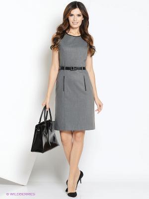 Платье PRIZZARO. Цвет: серый