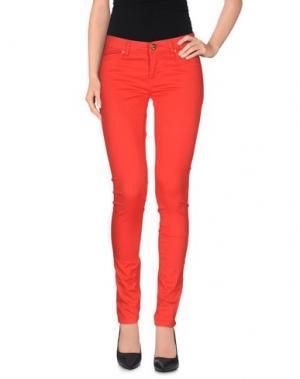 Повседневные брюки MAISON ESPIN. Цвет: красный