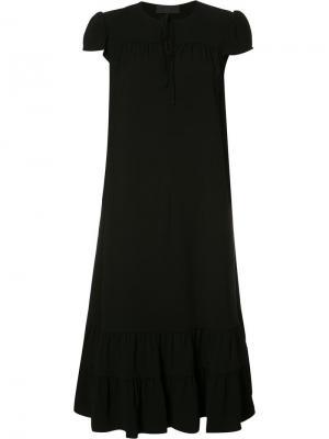 Платье с завязками на шее Co. Цвет: чёрный