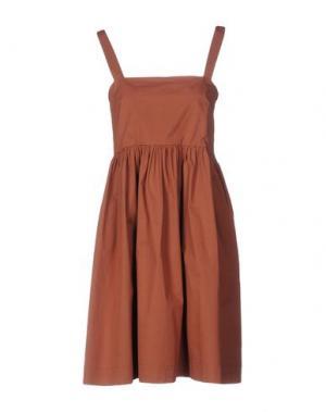 Платье до колена .TESSA. Цвет: коричневый