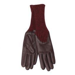 Перчатки  CECILIA/A коричнево-бордовый AGNELLE