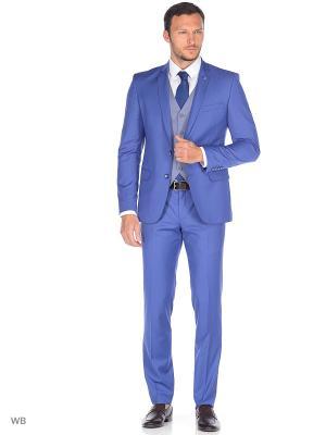 Костюм-тройка ABSOLUTEX. Цвет: серо-голубой, серый