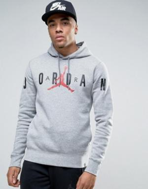 Jordan Худи с принтом Nike 834371-063. Цвет: серый