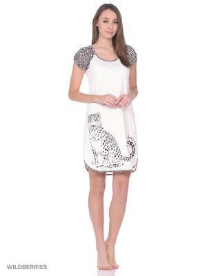 Сорочка ночная женская MARSOFINA. Цвет: молочный