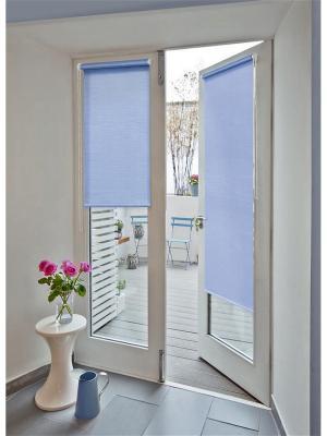 Миниролло на балконную дверь, голубой, размер: 52х215 см Kauffort. Цвет: голубой