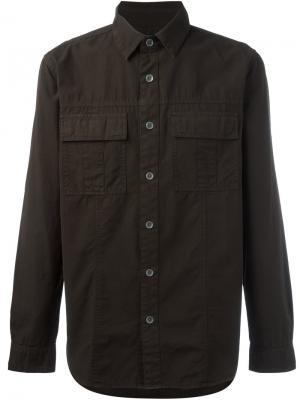 Рубашка в стиле милитари Hudson. Цвет: зелёный