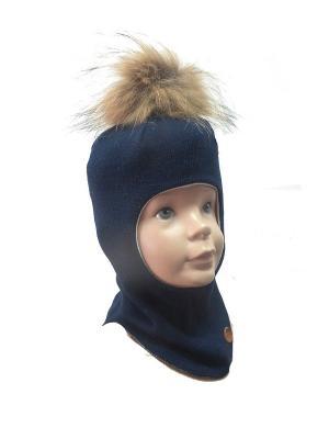 Шапка-шлем NELS. Цвет: синий