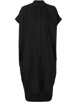 Платье-рубашка свободного кроя Totokaelo. Цвет: чёрный