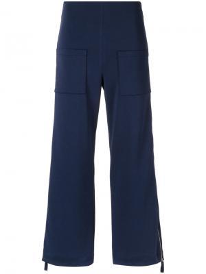 Укороченные брюки Gloria Coelho. Цвет: синий