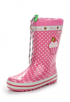Резиновые сапоги Kapika. Цвет: розовый