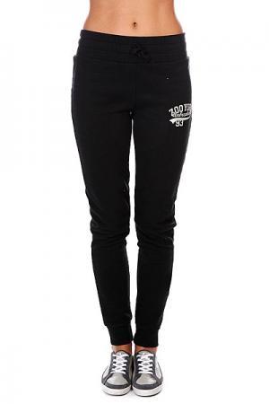 Штаны узкие женские  Bronxville Slugger Pant Real Black Zoo York. Цвет: черный