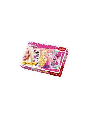 Барби с  щенком Trefl. Цвет: розовый
