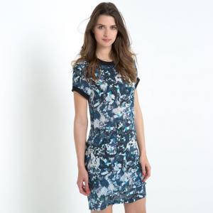 Платье с короткими рукавами BY ZOE. Цвет: синий/наб. рисунок
