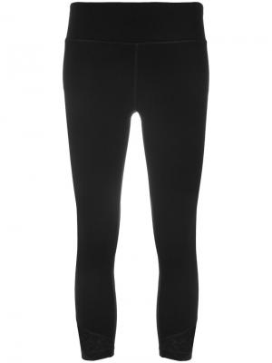 Укороченные лосины DKNY. Цвет: чёрный