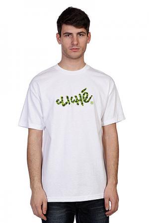 Футболка  Handwritten Leaf Camo White Cliche. Цвет: белый,камуфляжный