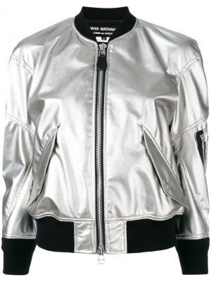 Укороченная куртка-бомбер Junya Watanabe Comme Des Garçons. Цвет: серый