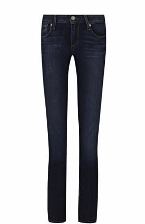 Укороченные джинсы-скинни с контрастной прострочкой Paige. Цвет: синий