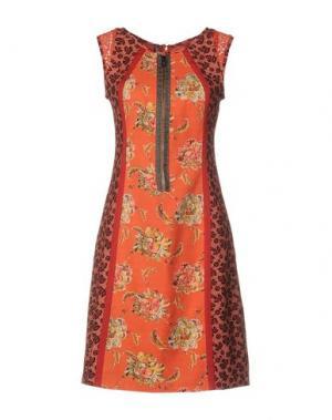 Короткое платье SAVE THE QUEEN. Цвет: оранжевый