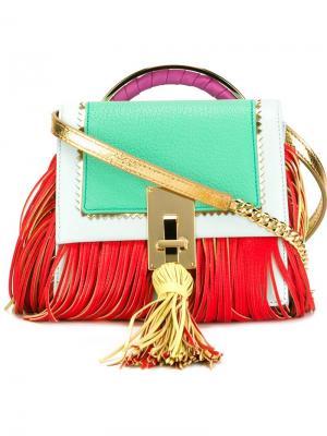 Fringed shoulder bag The Volon. Цвет: красный