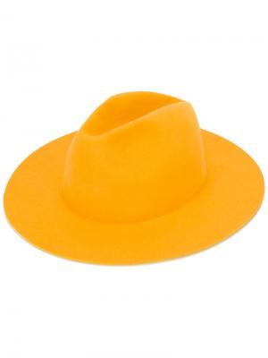 Фетровая шляпа Midnight Études. Цвет: жёлтый и оранжевый
