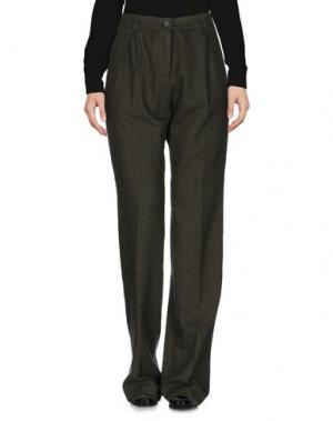Повседневные брюки JIJIL. Цвет: зеленый-милитари