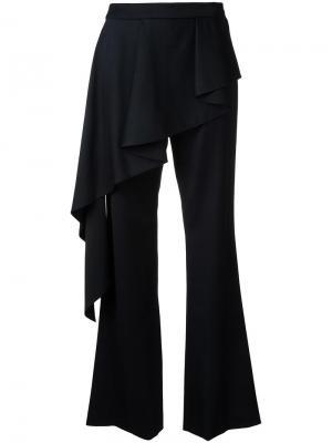 Многослойные расклешенные брюки Goen.J. Цвет: чёрный