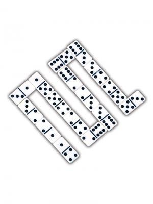 Игра настольная  Домино Classic. Цвет: черный, белый