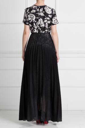 Шелковое платье Ostwald Helgason. Цвет: черно-белый