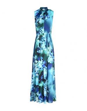 Длинное платье ANNA RACHELE. Цвет: лазурный
