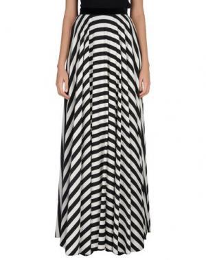 Длинная юбка DANIELE CARLOTTA. Цвет: черный