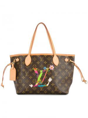Сумка с монограммой neverfull Louis Vuitton Vintage. Цвет: коричневый