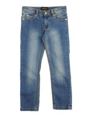 Джинсовые брюки MINI RODINI. Цвет: синий
