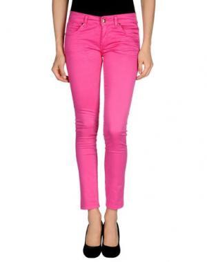 Повседневные брюки HANNY DEEP. Цвет: фуксия