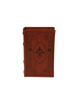 Шкатулка-фолиант Геральдическая лилия Русские подарки. Цвет: коричневый