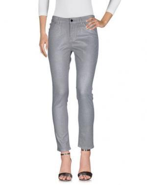 Джинсовые брюки MARIA GRAZIA SEVERI. Цвет: серый